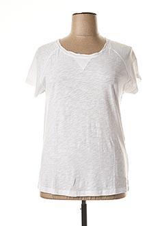 T-shirt manches courtes blanc FLEUR DE SEL pour femme