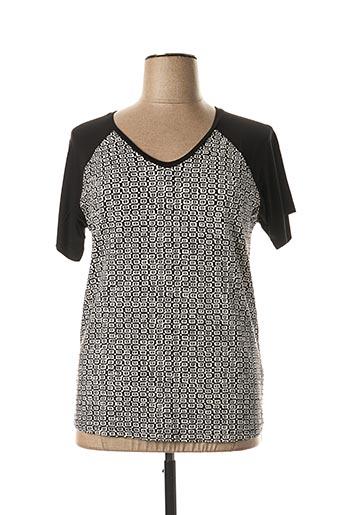 T-shirt manches courtes noir IMITZ pour femme