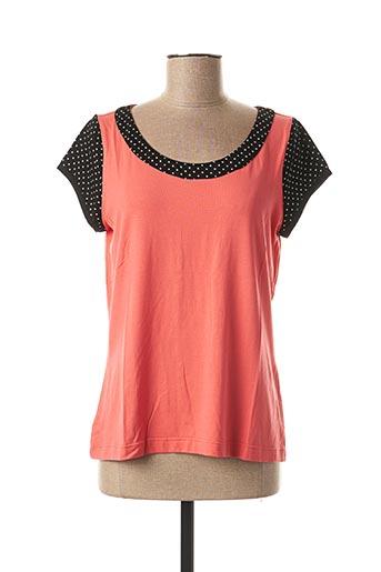 T-shirt manches courtes rose FILIPINE LAHOYA pour femme