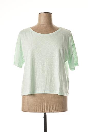 T-shirt manches courtes vert COQUELICOT pour femme
