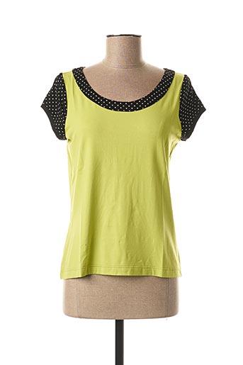 T-shirt manches courtes vert FILIPINE LAHOYA pour femme