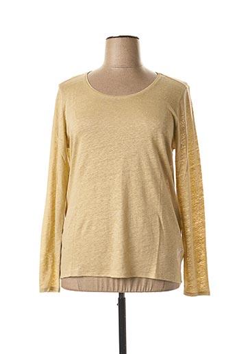 T-shirt manches longues beige FLEUR DE SEL pour femme