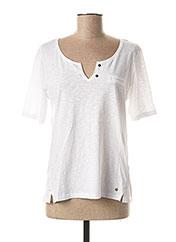 T-shirt manches courtes blanc FLEUR DE SEL pour femme seconde vue
