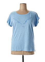 T-shirt manches courtes bleu C'EST BEAU LA VIE pour femme seconde vue