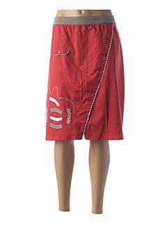 Jupe mi-longue rouge FIGURE LIBRE pour femme