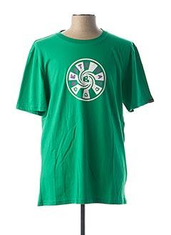 T-shirt manches courtes vert BESTE BAT pour homme