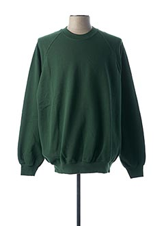 Sweat-shirt vert FRUIT OF THE LOOM pour homme