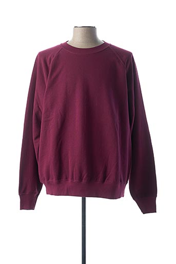 Sweat-shirt rouge FRUIT OF THE LOOM pour homme