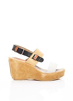 Sandales/Nu pieds beige DKODE pour femme