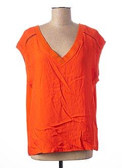 T-shirt manches courtes orange 1 2 3 pour femme
