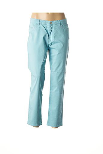 Pantalon casual bleu BRUNO SAINT HILAIRE pour homme