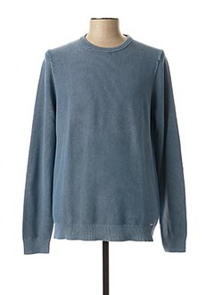 Pull col rond bleu OLYMP pour homme