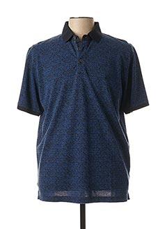 Polo manches courtes bleu CASAMODA pour homme