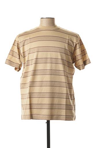 T-shirt manches courtes beige BERAC pour homme