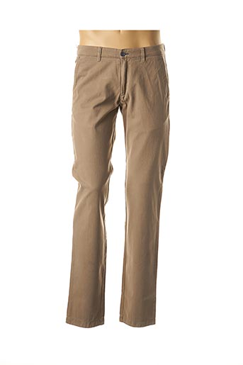 Pantalon casual beige BRUNO SAINT HILAIRE pour homme