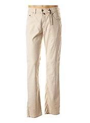 Pantalon casual beige PIERRE CARDIN pour homme seconde vue