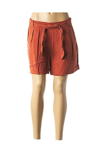 Bermuda orange ONLY pour femme