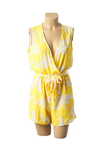 Combishort jaune ONLY pour femme