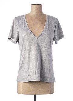 T-shirt manches courtes gris ONLY pour femme