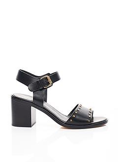 Sandales/Nu pieds noir JANET & JANET pour femme