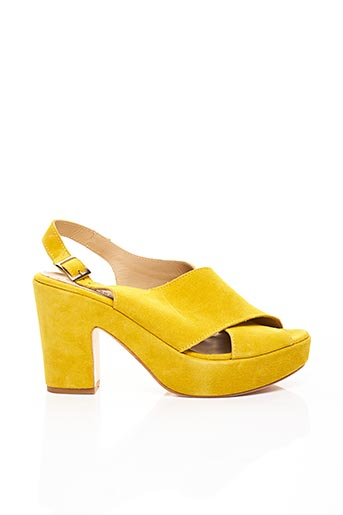 Sandales/Nu pieds jaune FIORINA pour femme