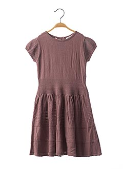 Robe pull violet MARESE pour fille