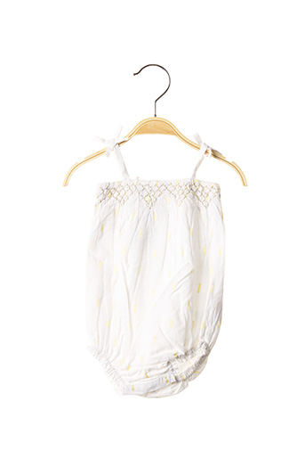 Barboteuse blanc MARESE pour fille