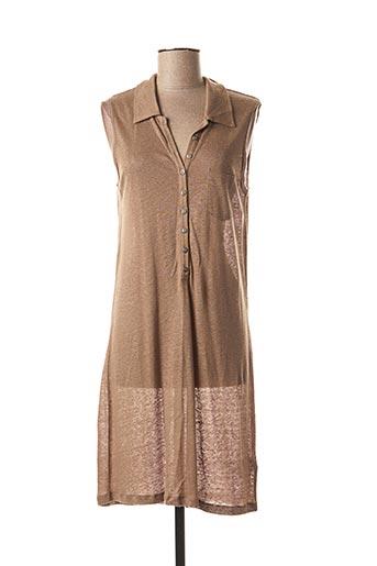 Robe mi-longue marron DIPLODOCUS pour femme