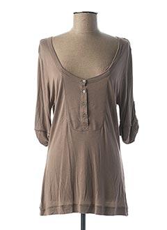 T-shirt manches longues marron DIPLODOCUS pour femme