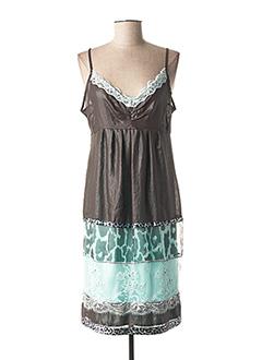 Robe mi-longue vert BLEU BLANC ROUGE pour femme