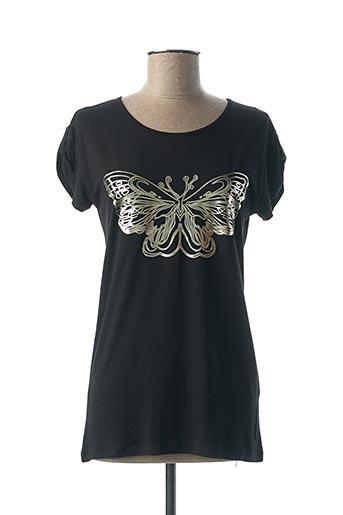 T-shirt manches courtes noir ELEONORA AMADEI pour femme
