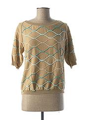 Pull col rond beige TRICOT CHIC pour femme seconde vue
