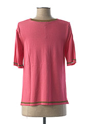 Pull col rond rose TRICOT CHIC pour femme seconde vue