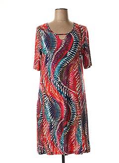 Robe mi-longue rouge CHALOU pour femme