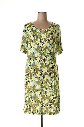 Robe mi-longue vert APRICO pour femme