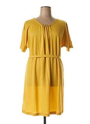 Robe mi-longue jaune FRANCK ANNA pour femme