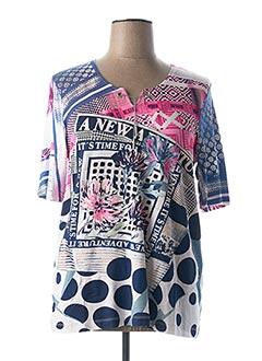 T-shirt manches courtes rose CHALOU pour femme