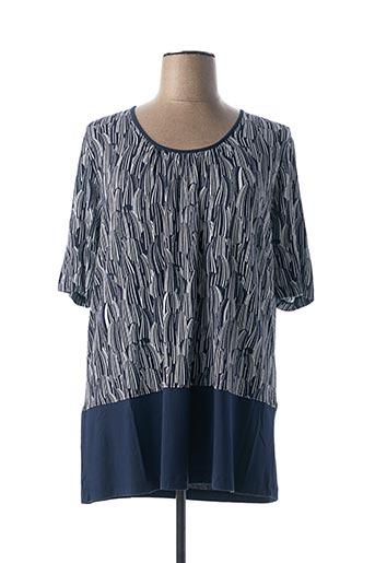 T-shirt manches courtes bleu CHALOU pour femme