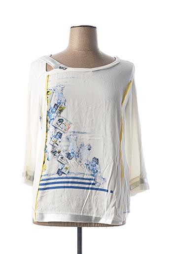 T-shirt manches longues blanc ELISA CAVALETTI pour femme