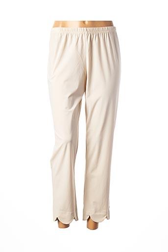 Pantalon 7/8 beige FRANCK ANNA pour femme
