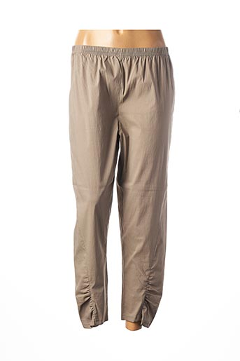 Pantalon 7/8 marron FRANCK ANNA pour femme