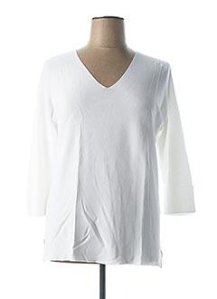 Pull col V blanc ESCORPION pour femme