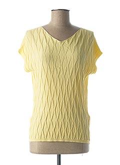 Pull col V jaune ESCORPION pour femme