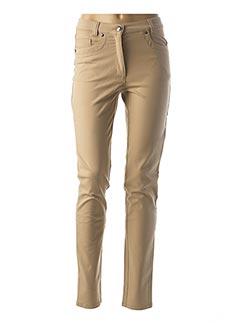 Pantalon casual beige FABER pour femme