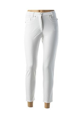 Pantalon casual blanc FABER pour femme