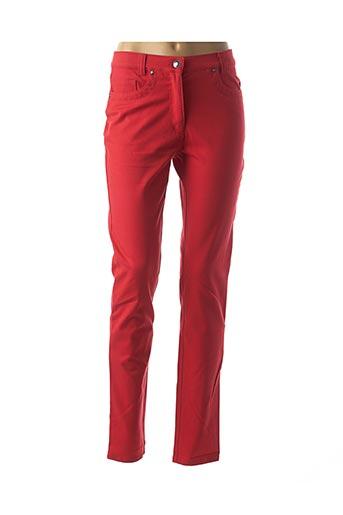 Pantalon casual rouge FABER pour femme