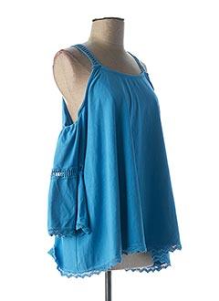 T-shirt manches courtes bleu ALESSANDRA BACCI pour femme