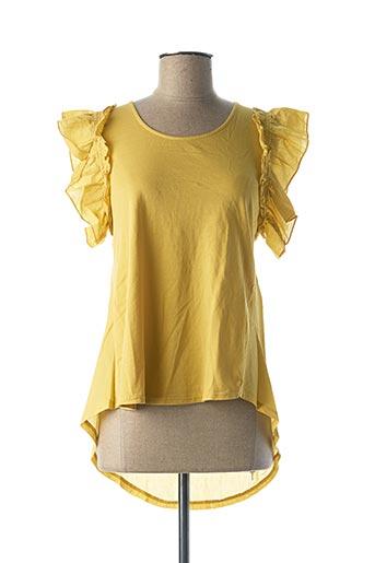 Blouse manches courtes jaune B.YU pour femme
