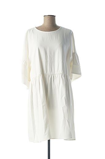 Robe courte blanc B.YU pour femme
