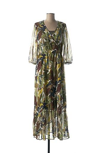Robe longue vert ELEONORA AMADEI pour femme